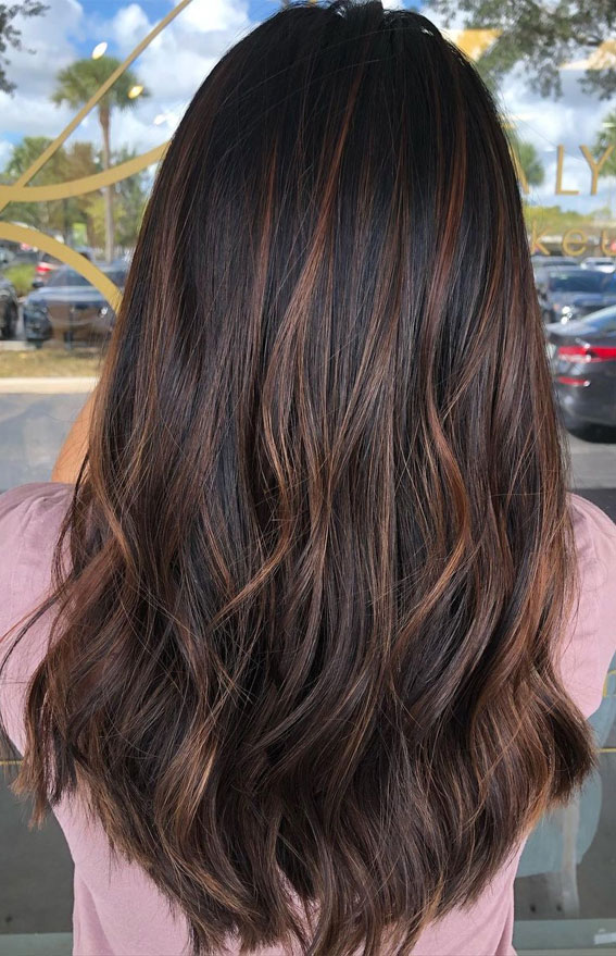 25 Dark Chocolate Brown Hair Ideas : Chocolate Brown Hair with a Touch of Copper