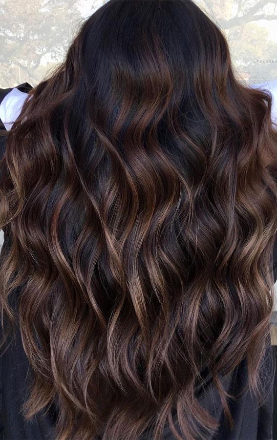 25 Dark Chocolate Brown Hair Ideas : Dark Chocolate Brown with Milky Chocolate Brown