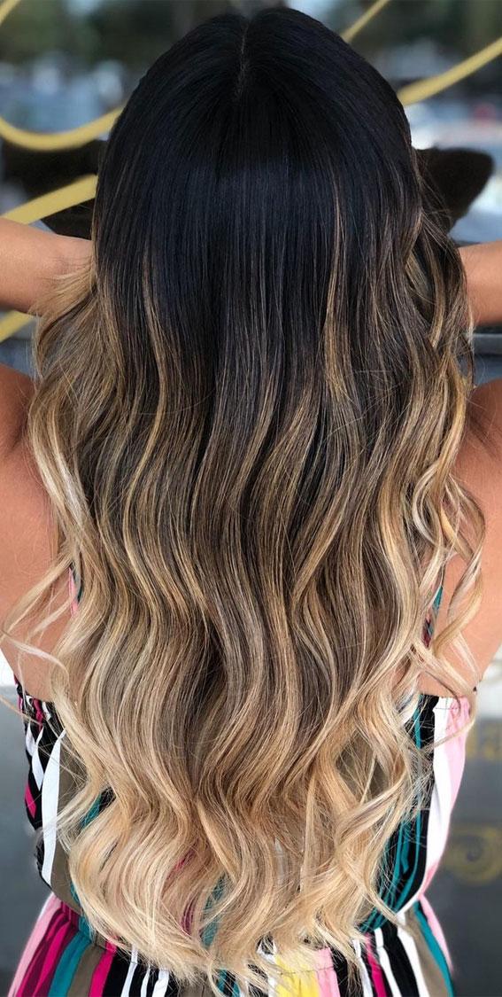 25 Dark Chocolate Brown Hair Ideas : Dark Brown Melted To Blonde