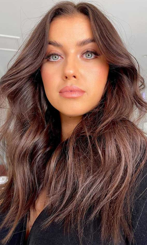 35 Best Fall 2021 Hair Color Trends : The Prettiest and Soft Chestnut brown hair