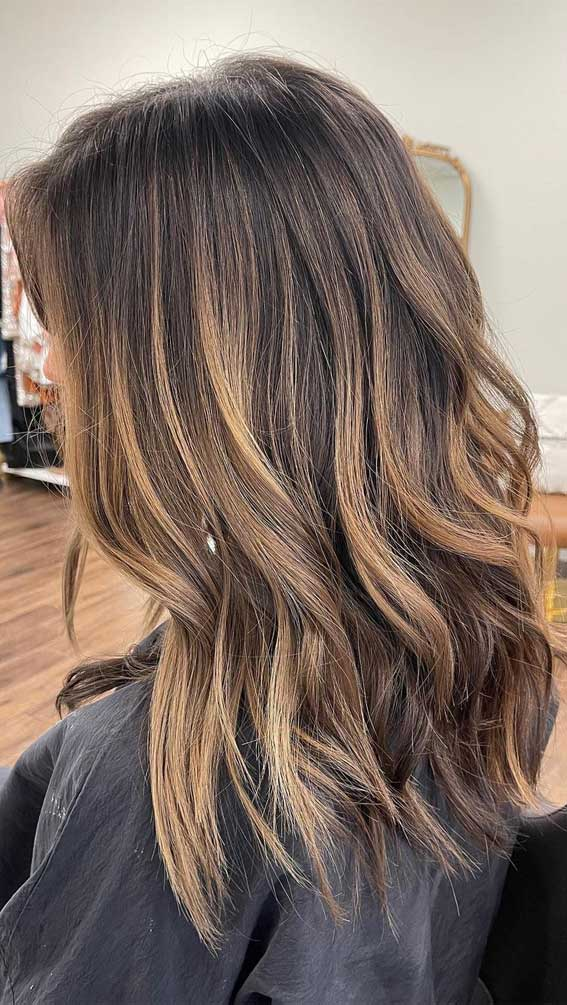35 Best Fall 2021 Hair Color Trends : Dark Chocolate To Milky Chocolate Brown Balayage