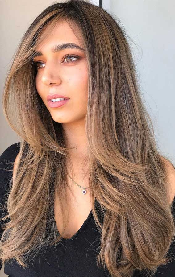 35 Best Fall 2021 Hair Color Trends : Cappuccino & Toffee Hair Color