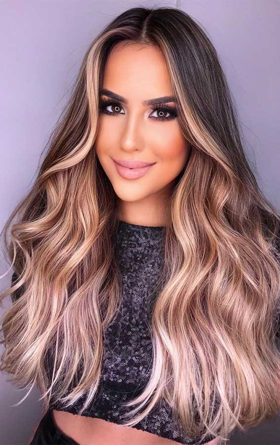 35 Best Fall 2021 Hair Color Trends : Dark Chocolate, Cinnamon and Blonde