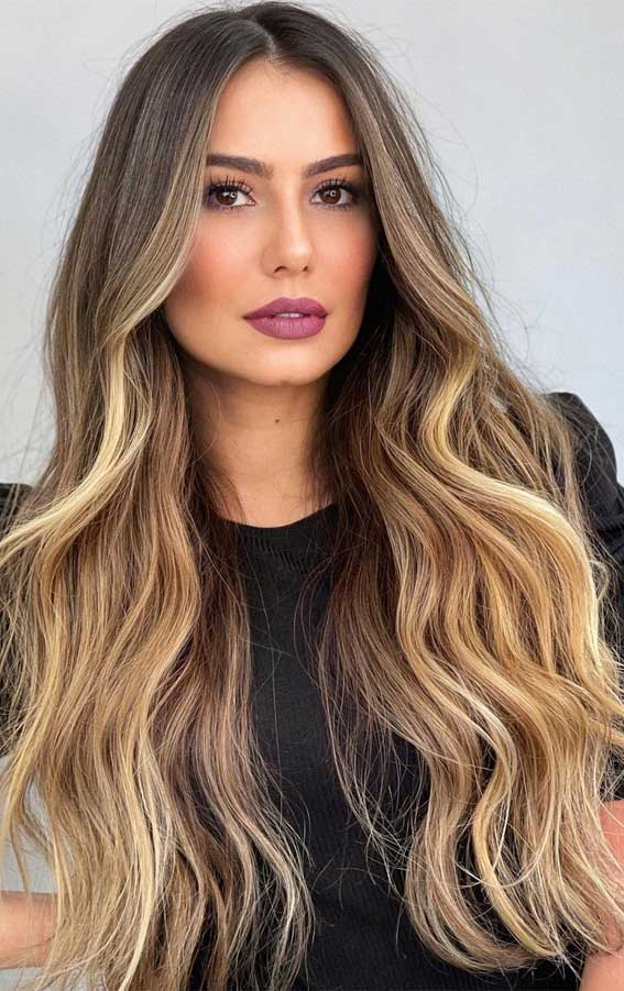 35 Best Fall 2021 Hair Color Trends : Chocolate Brown to Mix Blonde Tones