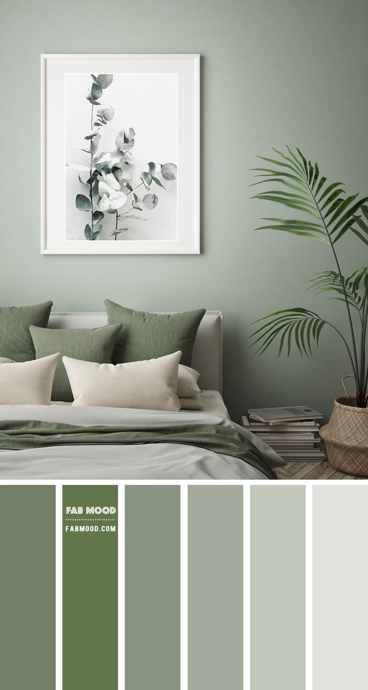 14 Beautiful Bedroom Colour Schemes : Sage Green Bedroom Colour Scheme