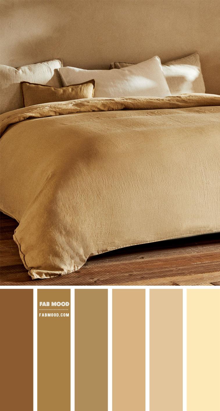 14 Beautiful Bedroom Colour Schemes : Brown, Beige and Sand Bedroom