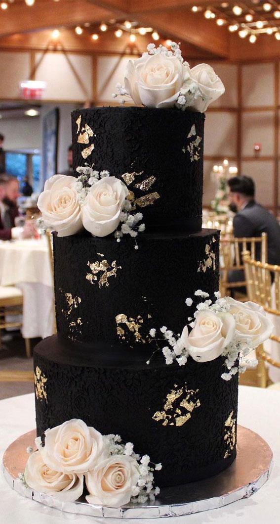 40 Pretty & New Wedding Cake Trends 2021 : Chocolate Buttercream Cake