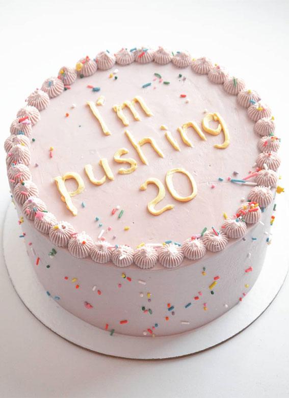 39 Cake design Ideas 2021 : Cute 20 Years Old Simple Birthday Cake