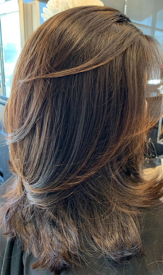 35 Best layered haircuts 2021 : Soft Layered Balayage