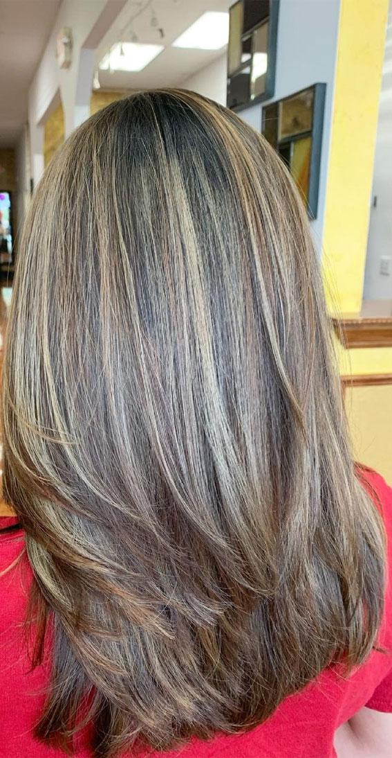 35 Best layered haircuts 2021 : Balayage Medium Layered Haircut