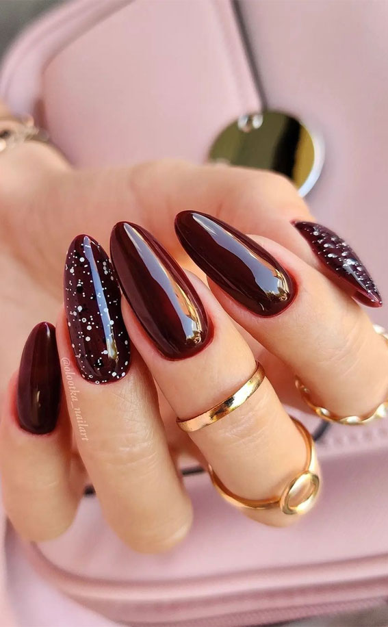 The 42 Nail Trends to Wear for Winter 2021 : Chocolate Brown Almond Shape Nails