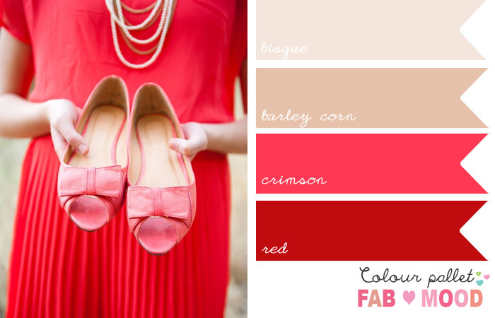 red wedding colour,red palette, red colour mood board