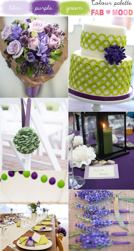 Green Purple Wedding Colors Lilac And