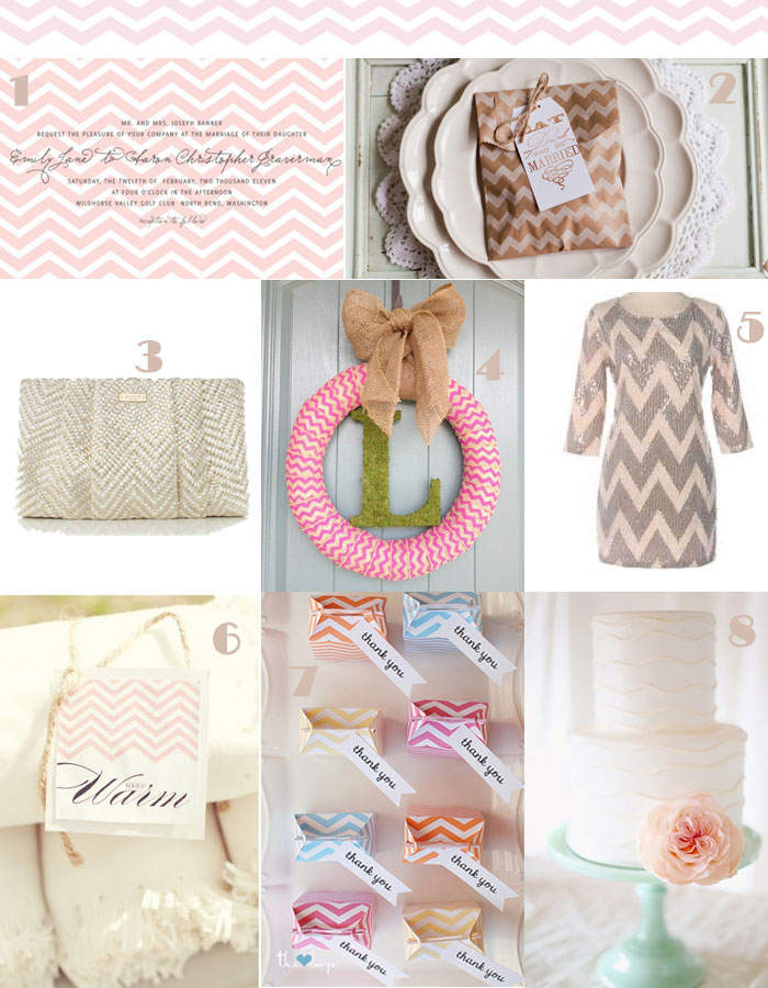 Crazy in love with Chevron Themed Weddings