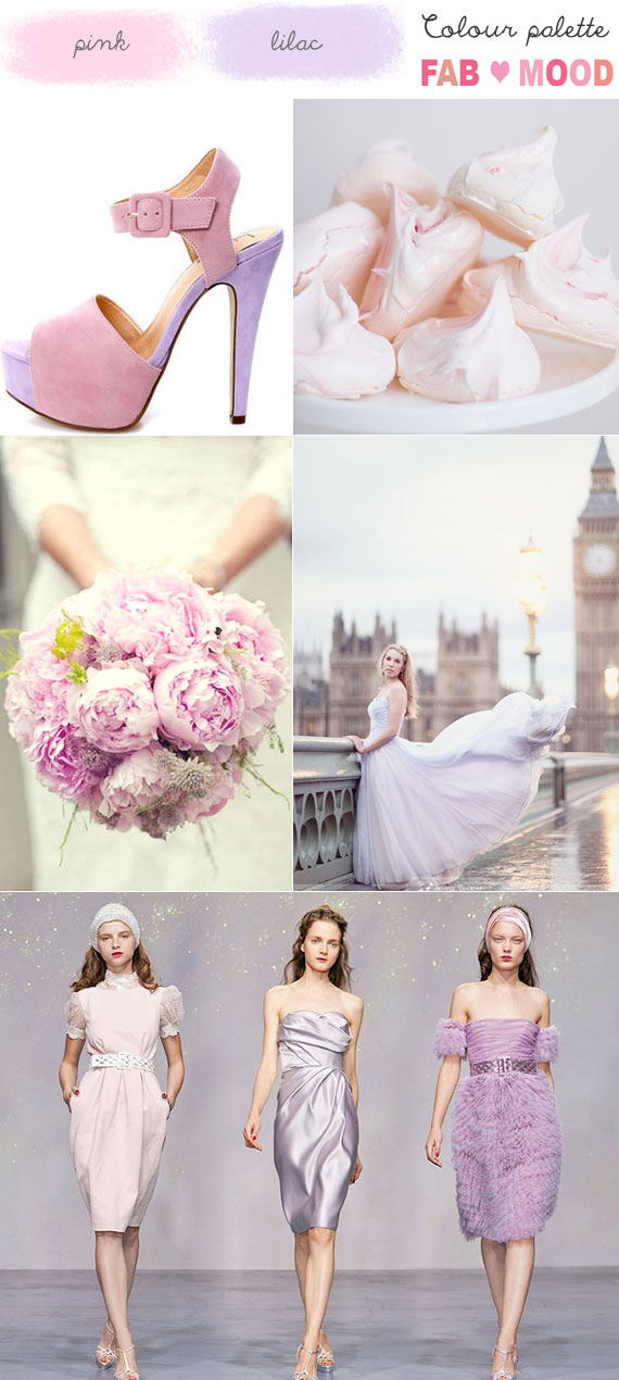 Lilac Pink Wedding Mood Board