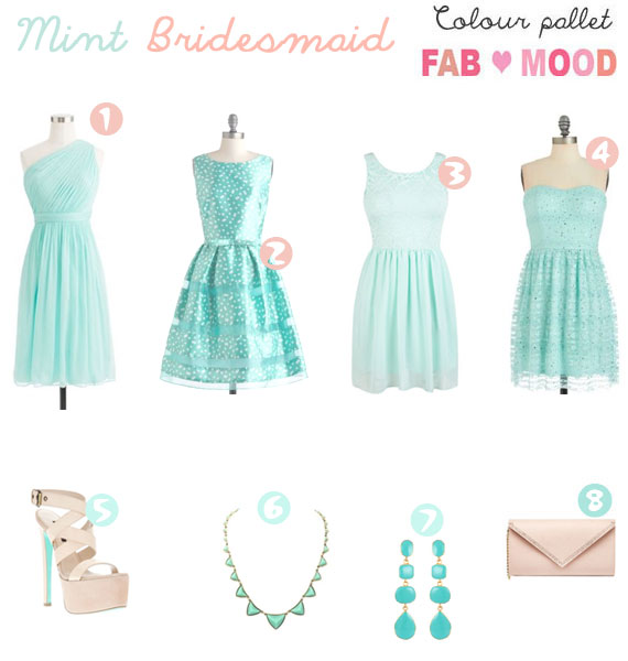 mint bridesmaid inspiration