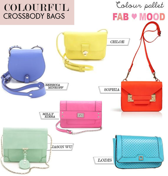 chic colourful crossbody bag, crossbody bags