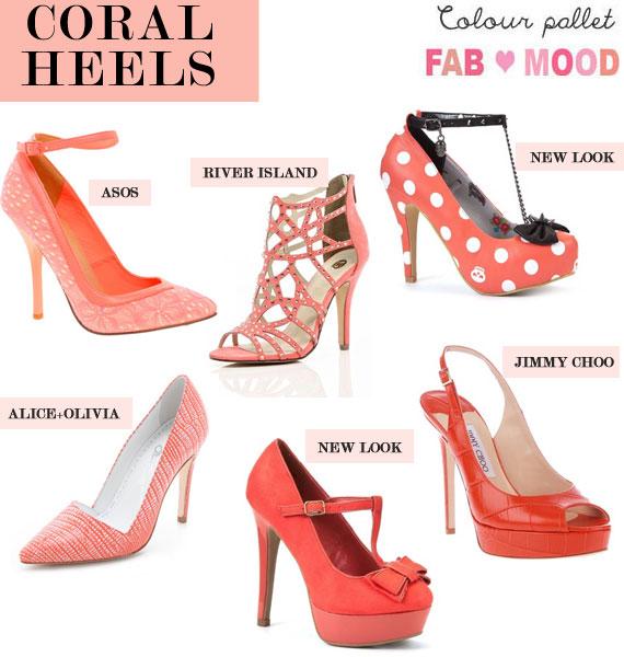 coral heels,coral wedding shoes