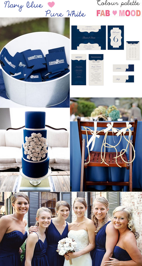 Navy blue white wedding theme, Wedding Colours Palette