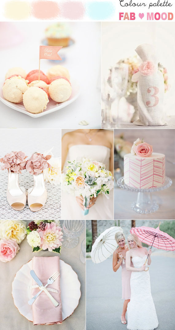 Pastel wedding colors palette ideas
