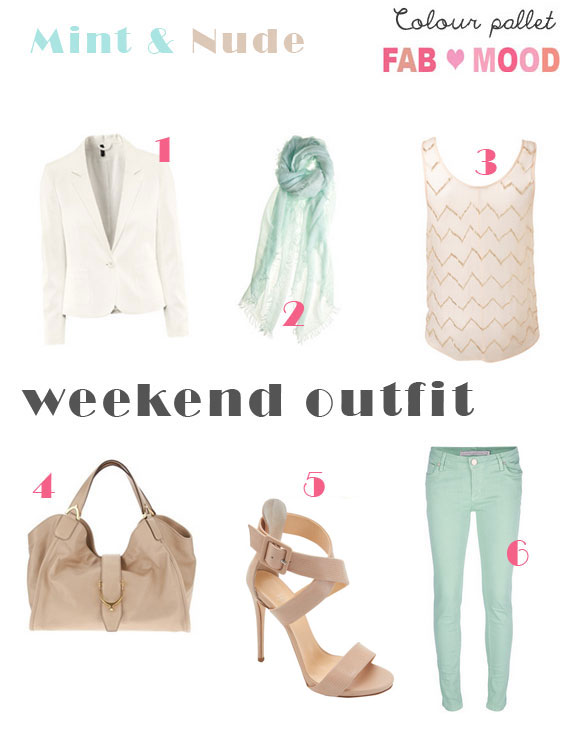 Mint & Nude weekend outfit