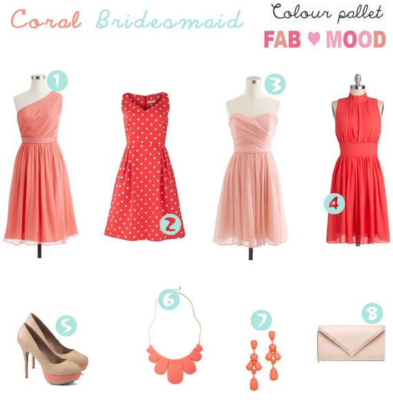 coral bridesmaid,coral bridesmaid dresses, coral bridesmaid ideas