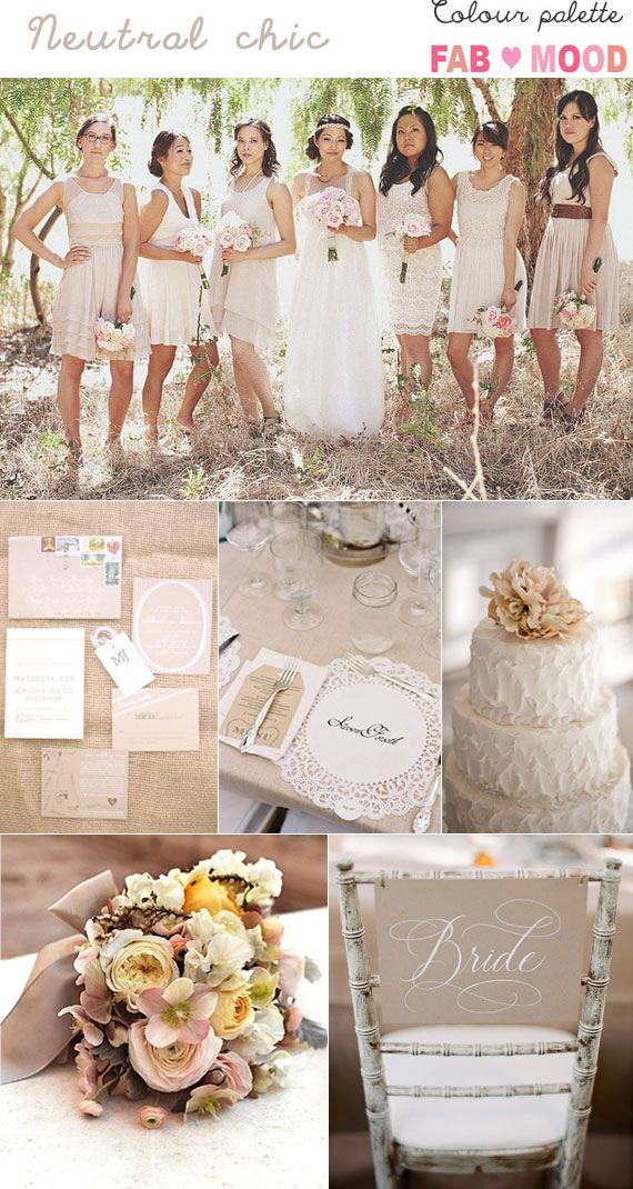 Neutral Wedding Colours Palette Ideas