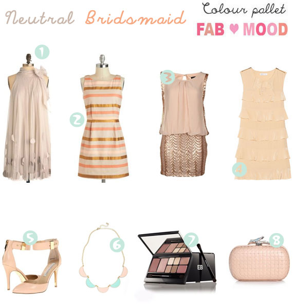 neutral wedding theme,neutral bridesmaid ideas,neutral bridesmaid dress