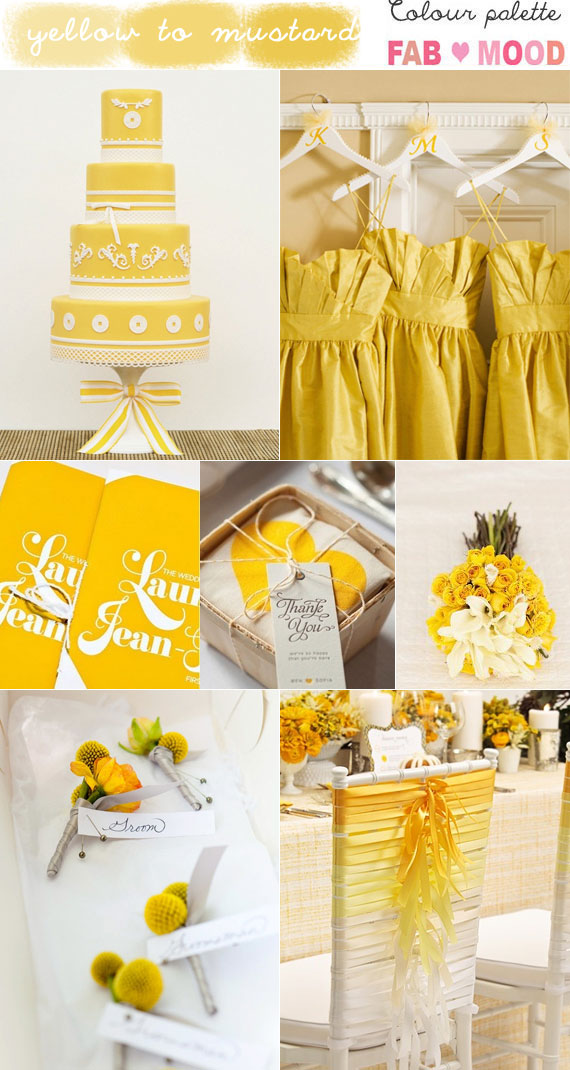 Yellow Mood shades of yellow & mustard wedding inspiration