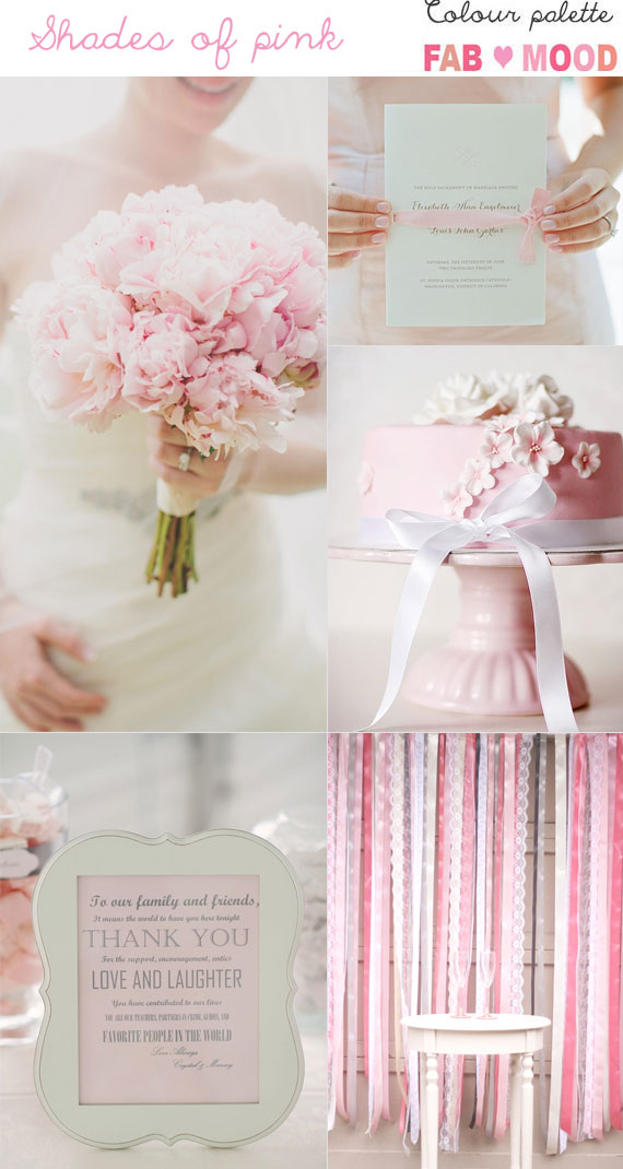 Pink Wedding Colour Mood Board