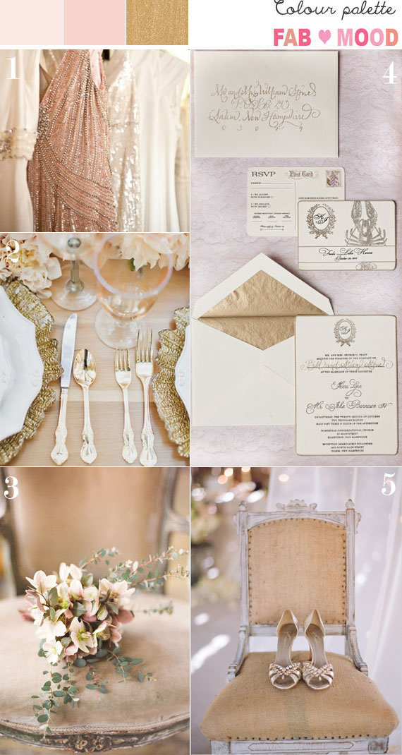 Blush Peach And Gold Wedding Wedding Colours Palette