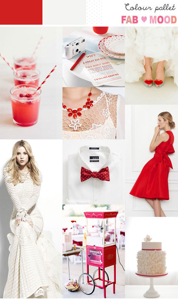 Poppy Red & White Inspiration Board