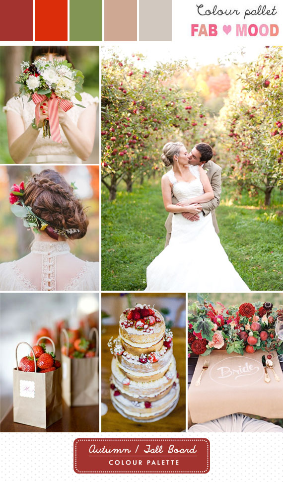 autumn wedding colour palette, autumn wedding colors,red autumn wedding,fall wedding ideas,autumn wedding colour