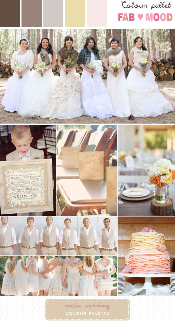 Rustic Wedding Inspiration Board 1 Fab Mood