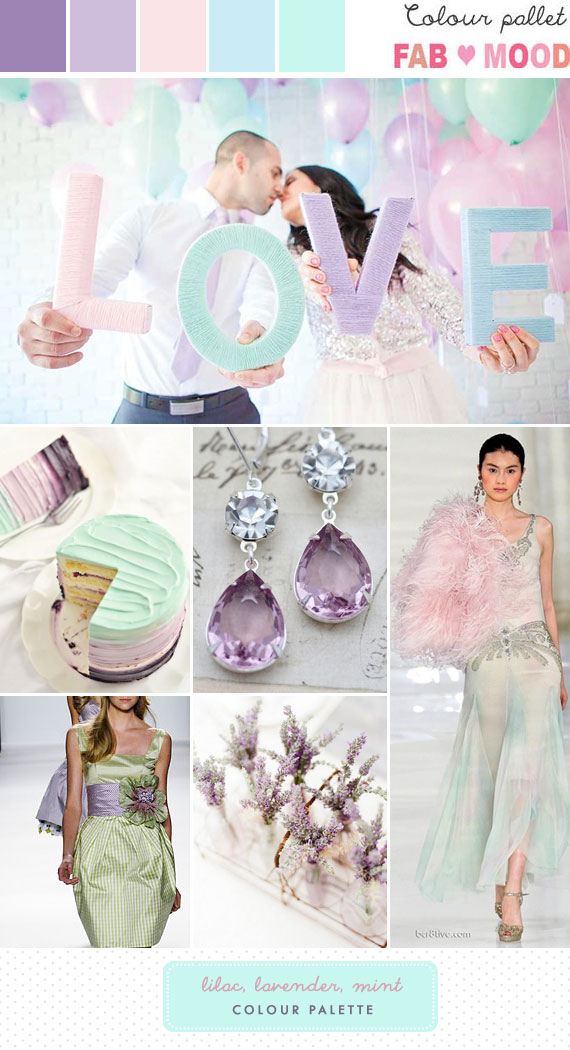 Lilac Lavender & Mint Wedding Colour Mood Board