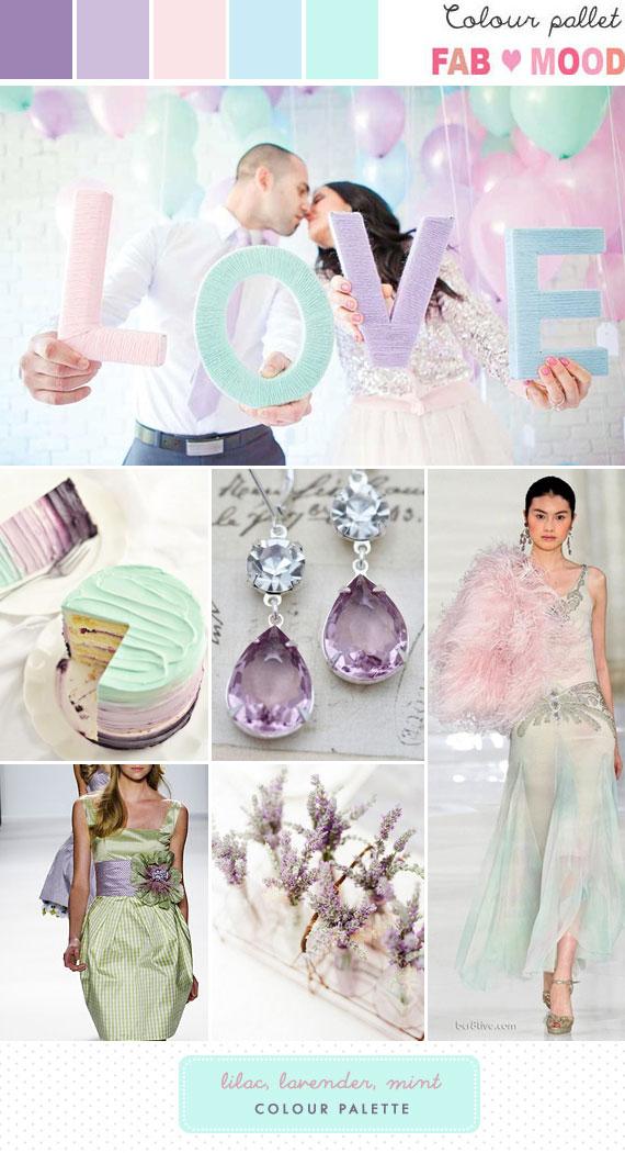 lilac lavender mint wedding mood board, lilac lavender mint wedding ideas