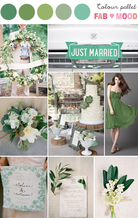 Green Wedding Colour Palette