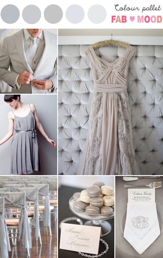 Grey Wedding Colour Palette