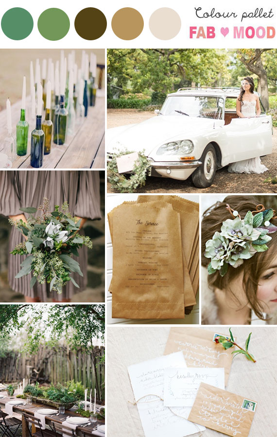 Rustic wedding color scheme rustic wedding color palettes for Wedding color scheme ideas