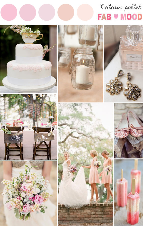 Pastel Rustic Wedding, pastel wedding color palette