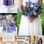 Purple blue wedding colors, purple blue wedding theme