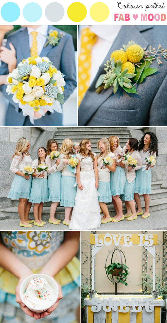 Blue Yellow Wedding Colorsblue And Yellow Wedding Palette