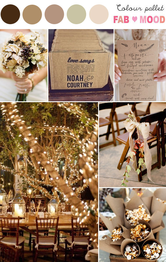 metallic autumn wedding theme