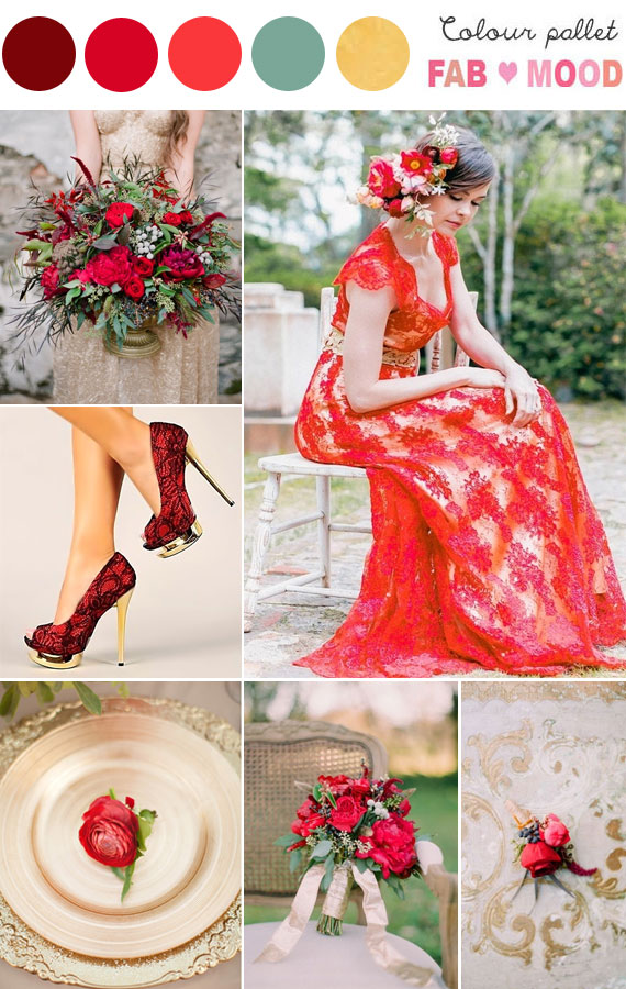 gold red wedding , red gold wedding ideas