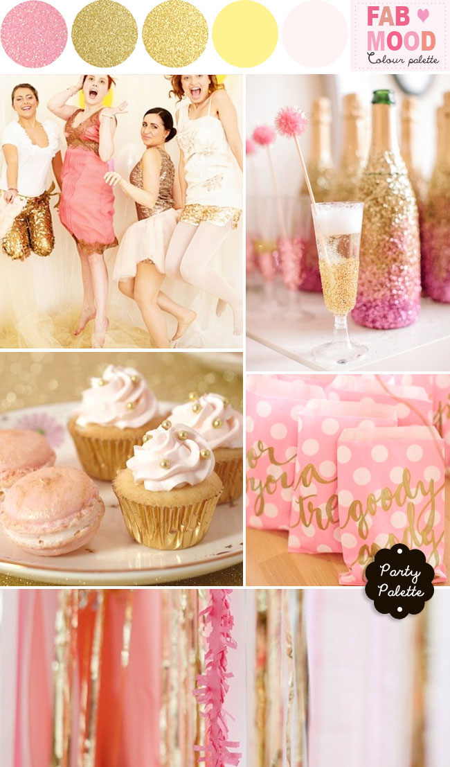 Wedding palette gold pink,Party Palette { Gold & Pink + Glitters & Sparklers }