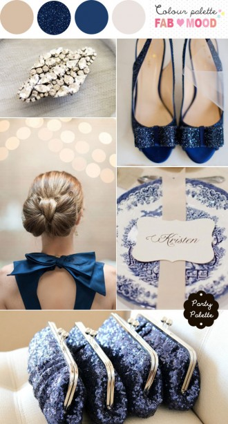 navy blue neutral wedding, blue white party board