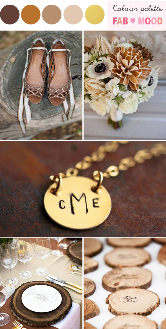 brown gold autumn wedding