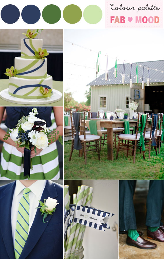 Navy Blue Green Wedding, blue and green summer wedding