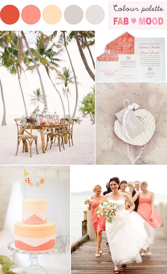Coral beach wedding colors beach wedding ideas coral wedding colorbeach wedding coral decor junglespirit Gallery