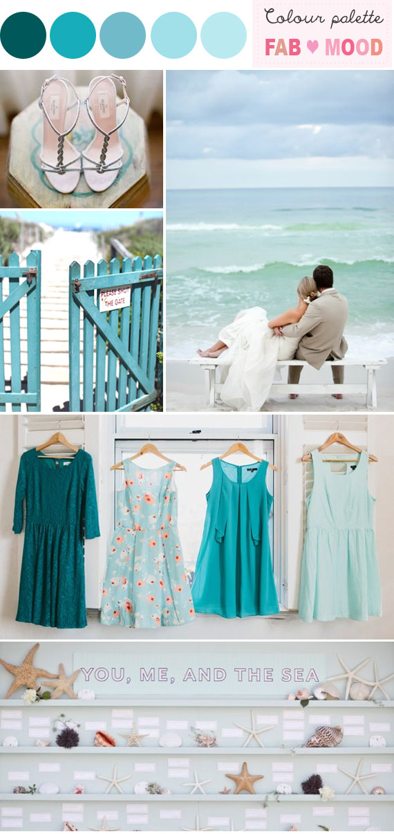 Beach Wedding – Teal & Aqua Palette